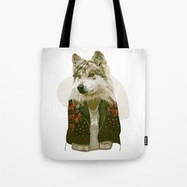 wolf jacket Tote Bag