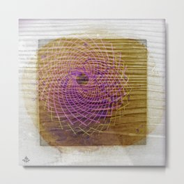Sahasrara °^ Torus in Wood on Snow with Sunflower in Mind Metal Print