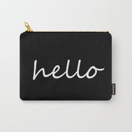Hello Black & White Carry-All Pouch
