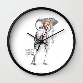 Two Minds for Depressed Cake Shop by Lauren Reis Wall Clock