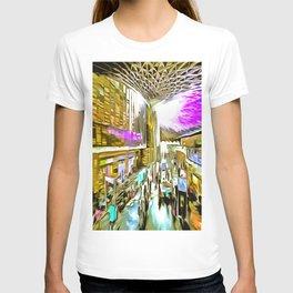 Kings Cross Station London Pop Art T-shirt