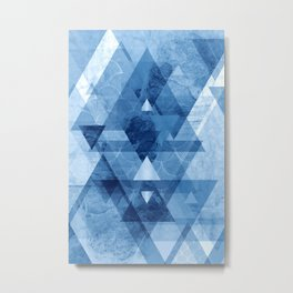 Blue Geometrica Metal Print