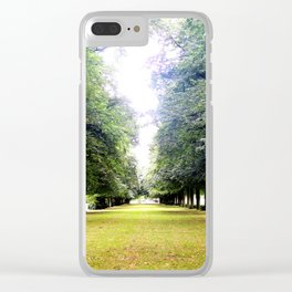 Tree Lined Clear iPhone Case