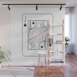 Single playing cards: Jack of Clubs Wall Mural