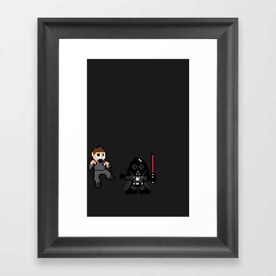 Pixel Wars Framed Art Print
