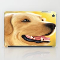 lab iPad Cases featuring Yellow Lab by Becky's Digital Art