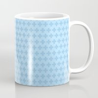 scandinavian Mugs featuring Scandinavian blue by There is no spoon