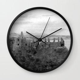 Irish Castle Ruins Landscape | Nadia Bonello Wall Clock