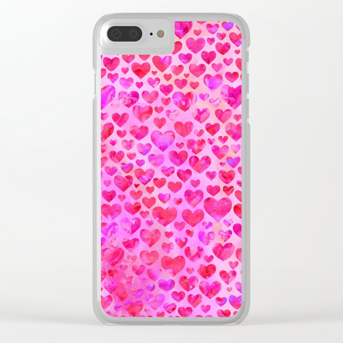 Heart Pattern 02 Clear iPhone Case