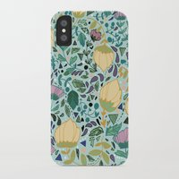flower pattern iPhone & iPod Cases featuring Flower Pattern by Jo Cheung Illustration