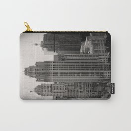 Chicago Tribune Tower Building Black and White Photo Carry-All Pouch