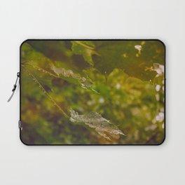 Rainy autumn leaves Laptop Sleeve