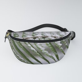 Fern Forest Winter Pacific Northwest Snow - Nature Photography Fanny Pack