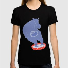 Hippo Illustration T-shirt