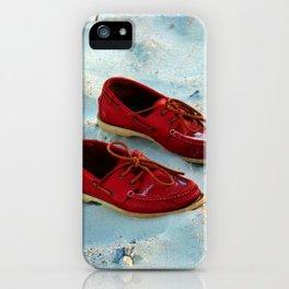 Red Boat Shoes iPhone Case