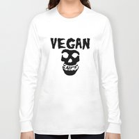 misfits Long Sleeve T-shirts featuring vegan misfits by sQuoze
