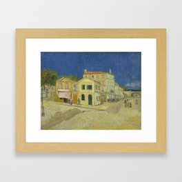 The Yellow House by Vincent van Gogh Framed Art Print
