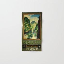 Vintage poster - Wanganui River Hand & Bath Towel