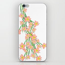 Peachy Pink Floral iPhone Skin