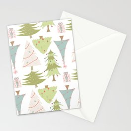 Quirky Christmas Trees Stationery Cards