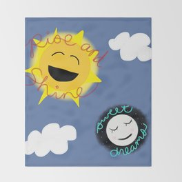Rise and Shine/Sweet Dreams Throw Blanket