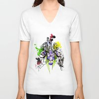 lungs V-neck T-shirts featuring Lungs by Nadia Cruikshanks