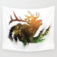 elk Wall Tapestries featuring Elk by Justin Kedl