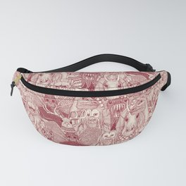 cryptid crowd red pearl Fanny Pack