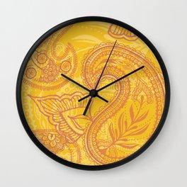 Paisley Juice Wall Clock
