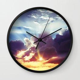 Warm Sunset Wall Clock