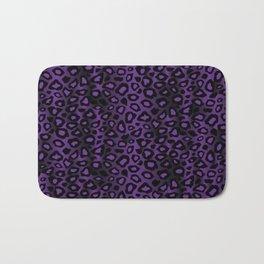 Deep Purple Leopard Skin Pattern Bath Mat