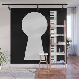 Piano Keyhole Musical Copy Space Wall Mural