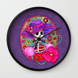 Catrina Doña Beatriz Wall Clock