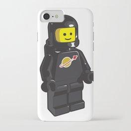 Vintage Black Spaceman Minifig iPhone Case