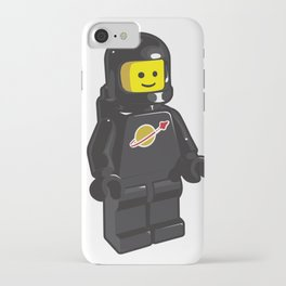 Vintage Black Spaceman Minifig iPhone Case