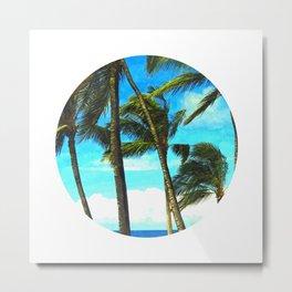 Circle Palm Trees Metal Print