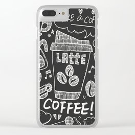 Coffee Lover!! Clear iPhone Case