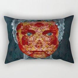 Sad man in the dark room Rectangular Pillow