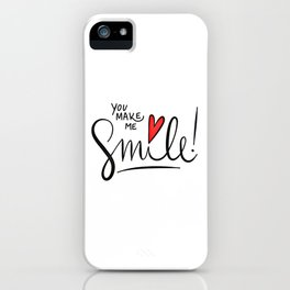 Love Quote Design, Colorful Hearts, Rainbows and Flowers (24) iPhone Case