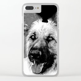 german shepherd dog v2vabw Clear iPhone Case