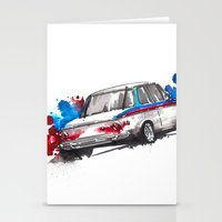 bmw Stationery Cards featuring BMW 2002 by Claeys Jelle Automotive Artwork