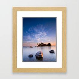Bear Island morning Framed Art Print