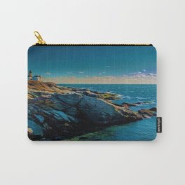 Island of Jamestown, Rhode Island Beaver Tail Lighthouse landscape painting Carry-All Pouch