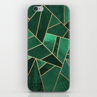 copper iPhone & iPod Skins featuring Emerald and Copper by Elisabeth Fredriksson