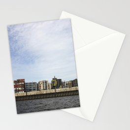 The city from the river  Stationery Cards