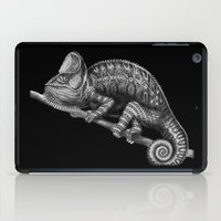 chameleon iPad Cases featuring Chameleon by Tim Jeffs Art