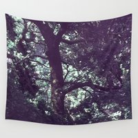 fairies Wall Tapestries featuring Where are the fairies ? by Françoise Reina