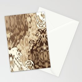 Ikat Medallions: Brown Stationery Cards