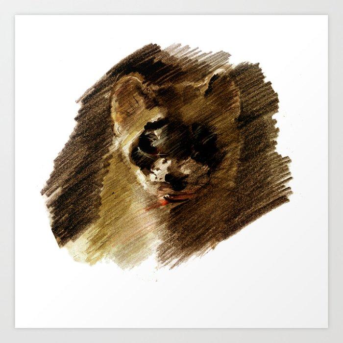 Totem Black footed ferret Art Print