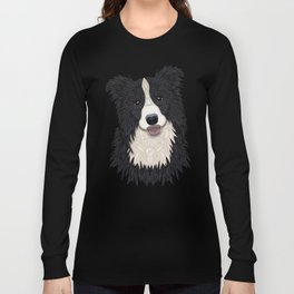 Happy Border Collie Long Sleeve T-shirt